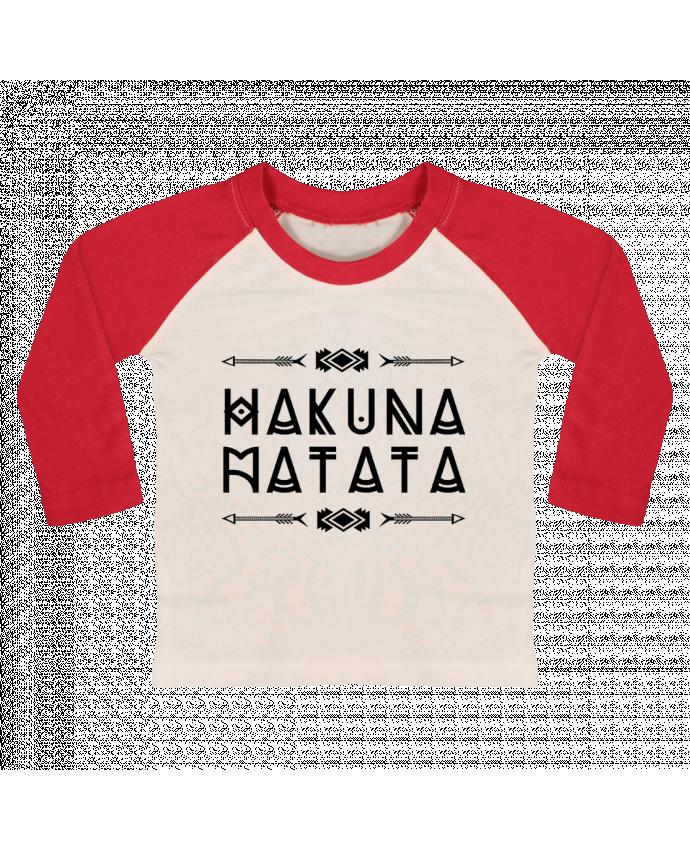 T-shirt Bébé Baseball Manches Longues hakuna matata par DesignMe