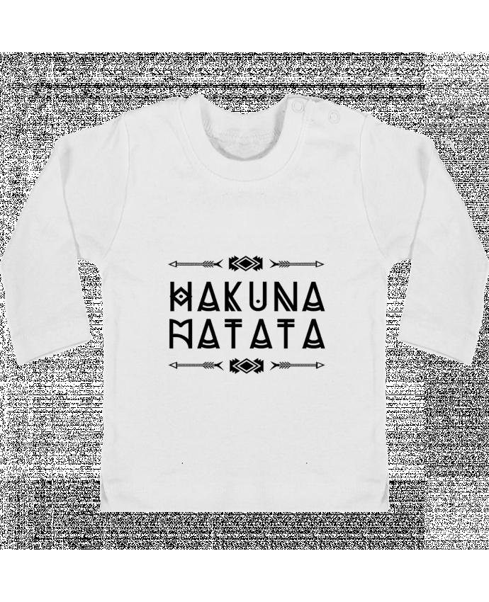 T-shirt Bébé Manches Longues Boutons Pression hakuna matata manches longues du designer DesignMe