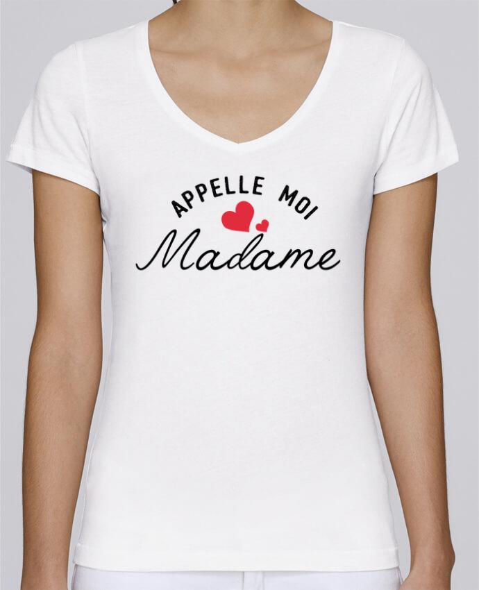 T-shirt Femme Col V Stella Chooses Appelle moi madame par tunetoo