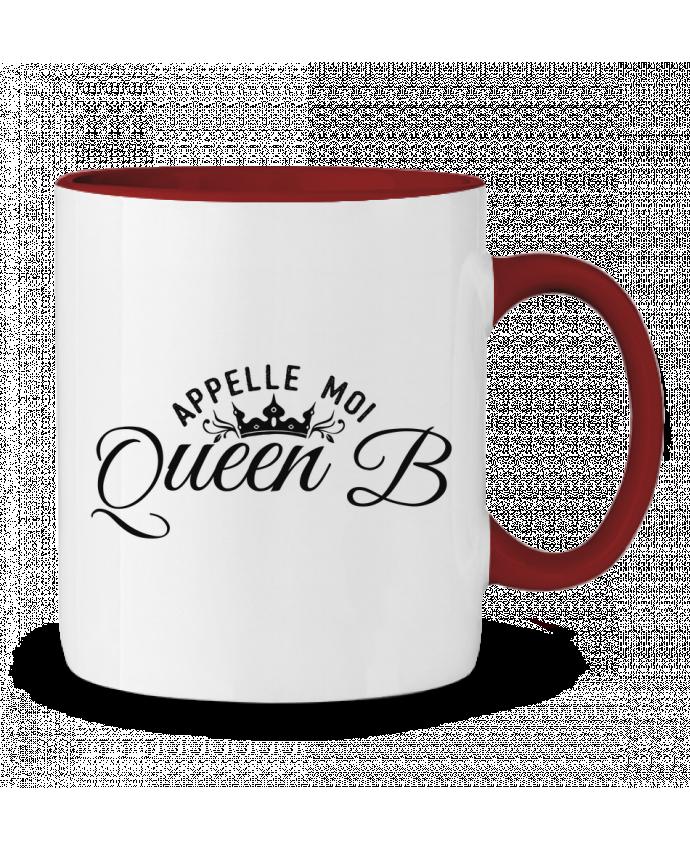 Mug en Céramique Bicolore Appelle moi queen B tunetoo
