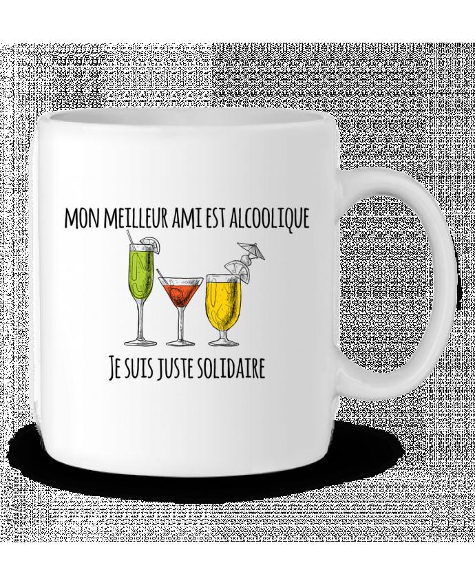 Mug en Céramique Mon meilleur ami est alcoolique et je suis juste solidaire par tunetoo
