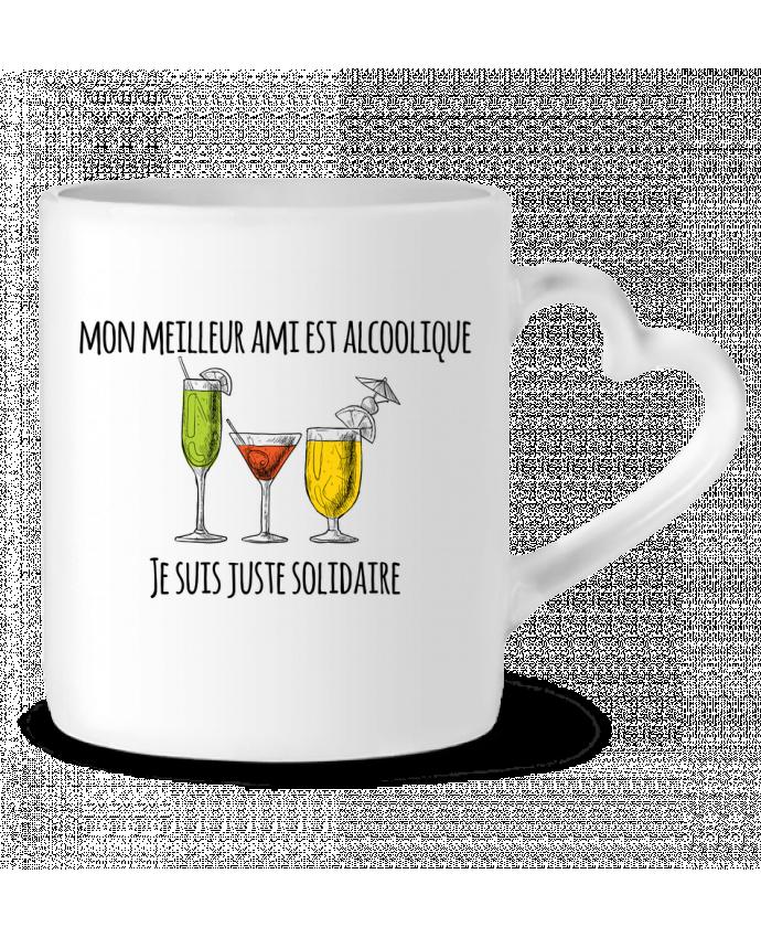 Mug Coeur Mon meilleur ami est alcoolique et je suis juste solidaire par tunetoo