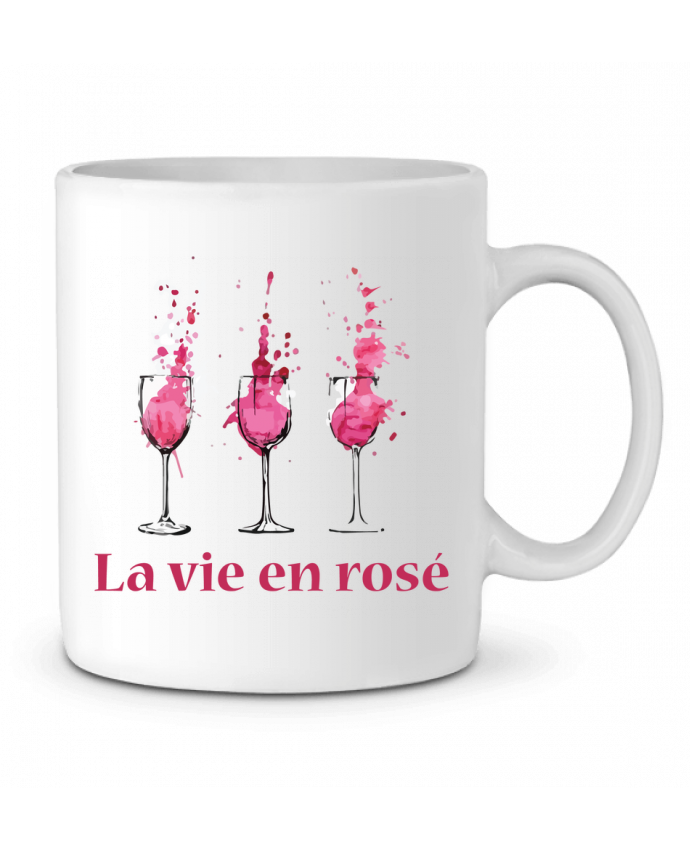 Mug en Céramique La vie en rosé par tunetoo