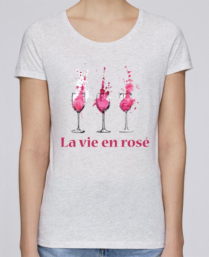 T-shirt Femme Stella Loves La vie en rosé par tunetoo