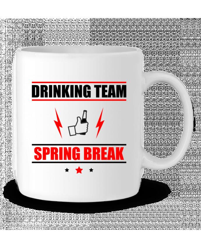 Mug en Céramique Drinking Team Spring Break par Benichan