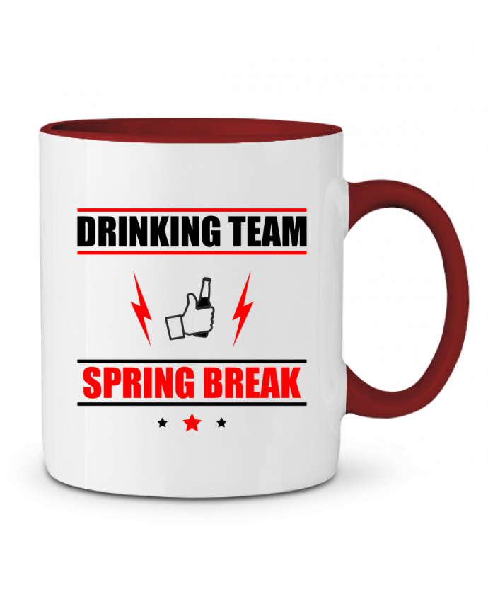 Mug en Céramique Bicolore Drinking Team Spring Break Benichan