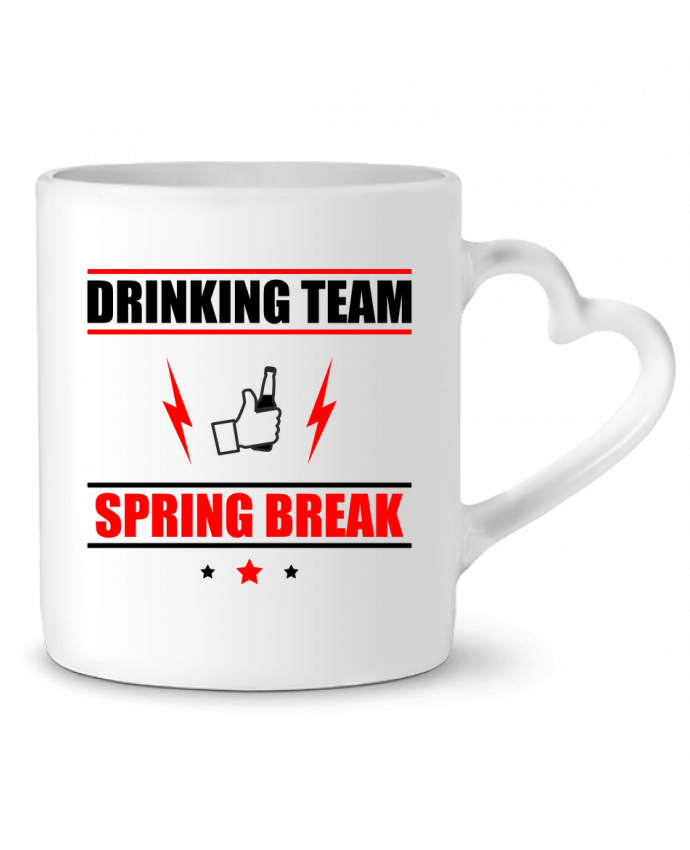 Mug Coeur Drinking Team Spring Break par Benichan