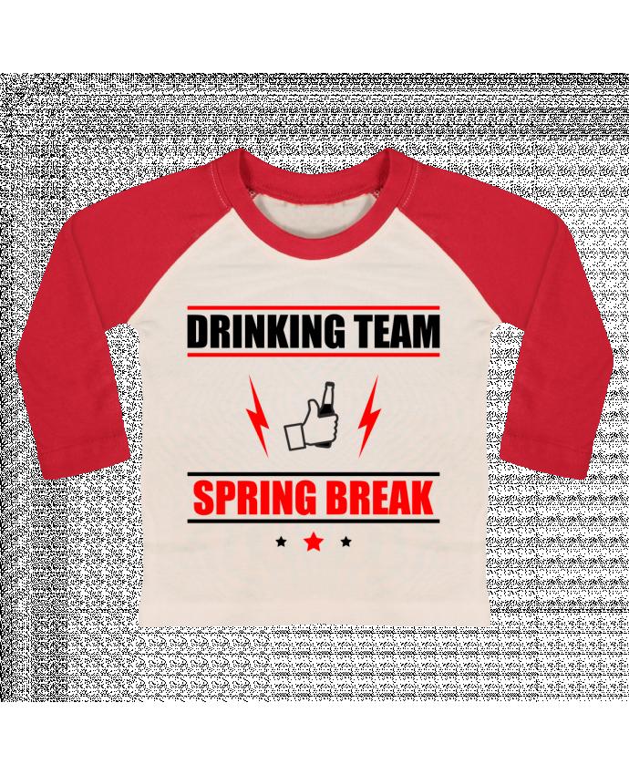 T-shirt Bébé Baseball Manches Longues Drinking Team Spring Break par Benichan