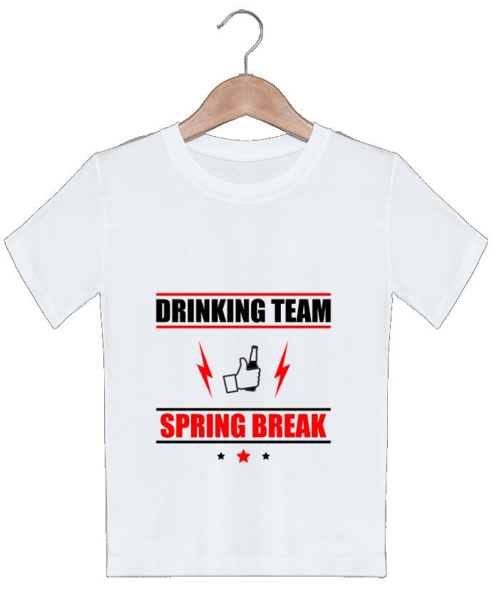 T-shirt garçon motif Drinking Team Spring Break Benichan
