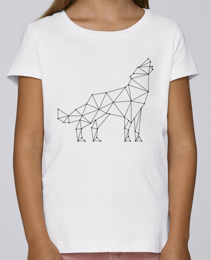 T-shirt Fille Mini Stella Draws wolf - geometry par /wait-design
