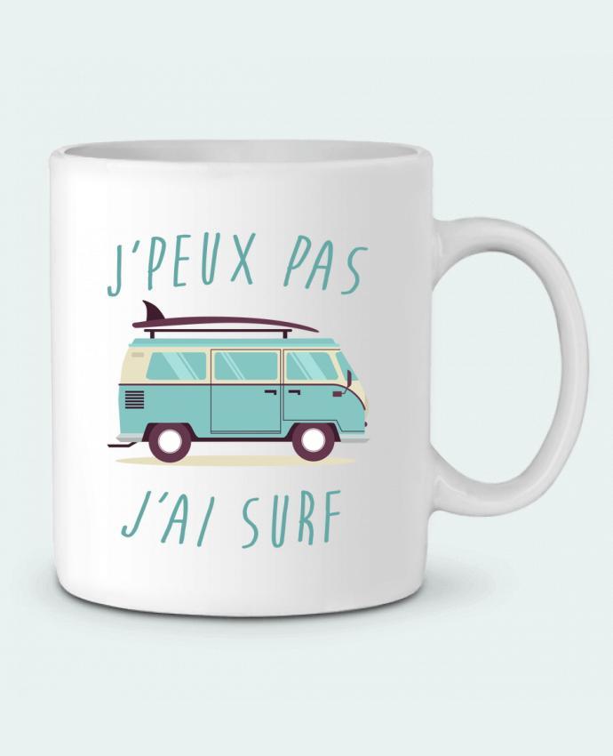 Mug en Céramique Je peux pas j'ai surf par FRENCHUP-MAYO