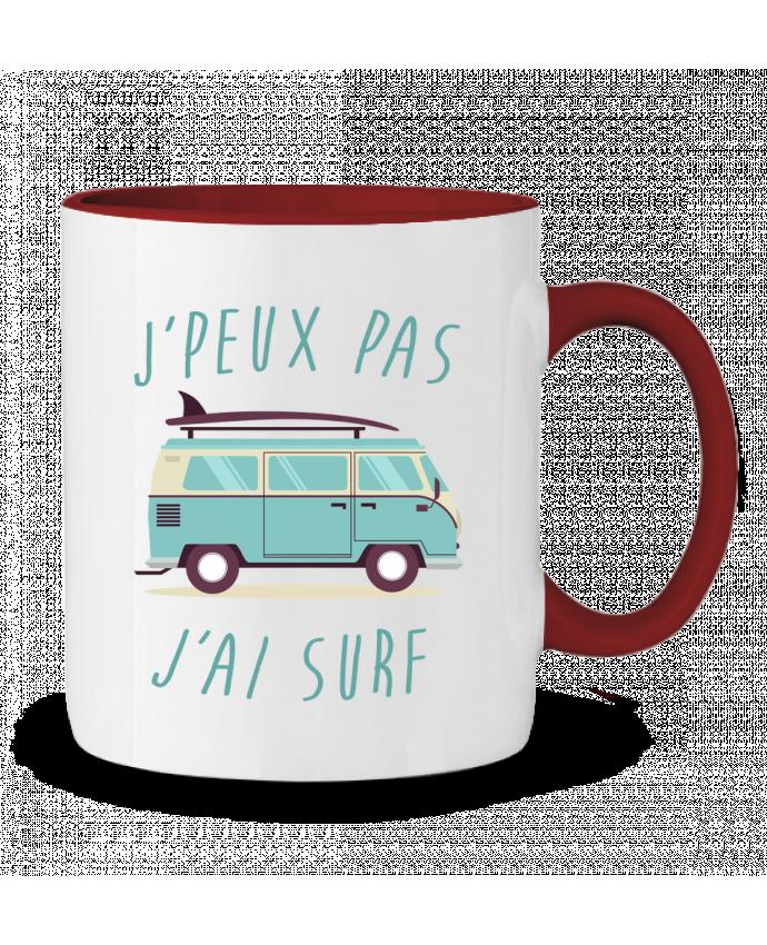 Mug en Céramique Bicolore Je peux pas j'ai surf FRENCHUP-MAYO