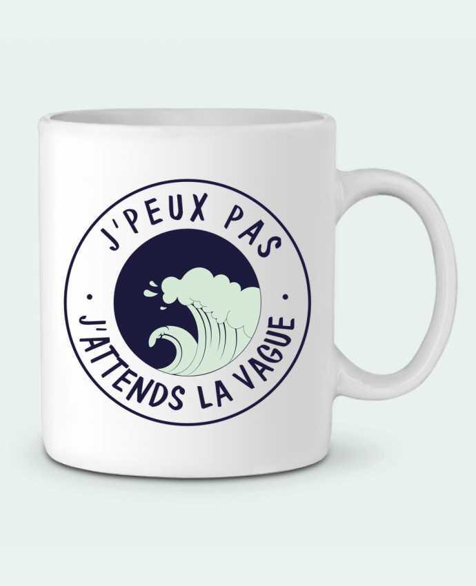 Mug  Je peux pas j'attends la vague par FRENCHUP-MAYO