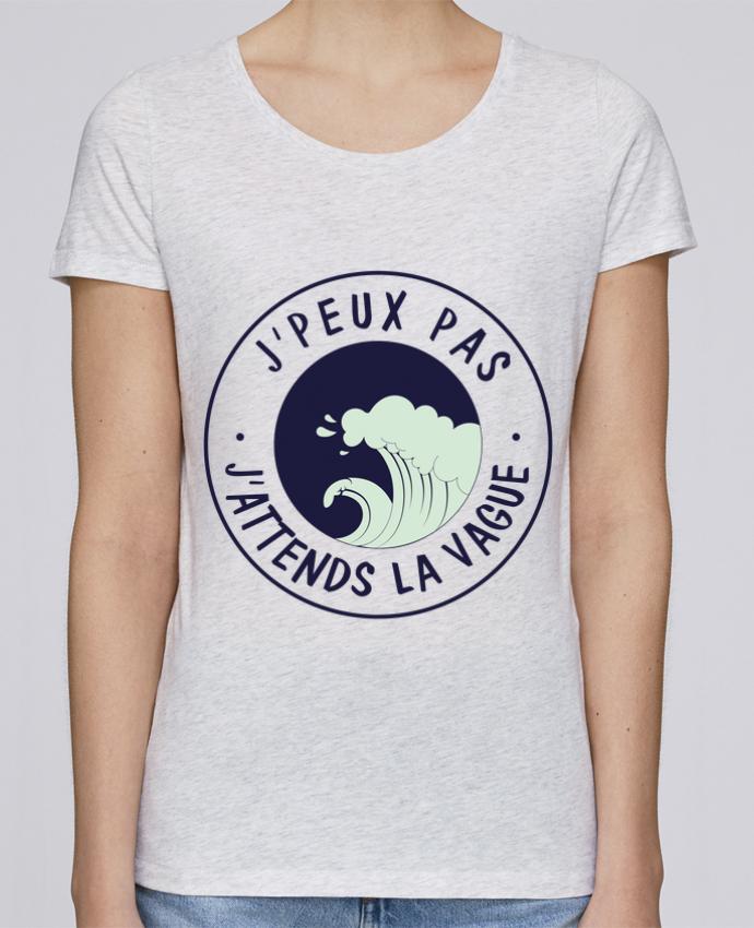 T-shirt Femme Stella Loves Je peux pas j'attends la vague par FRENCHUP-MAYO