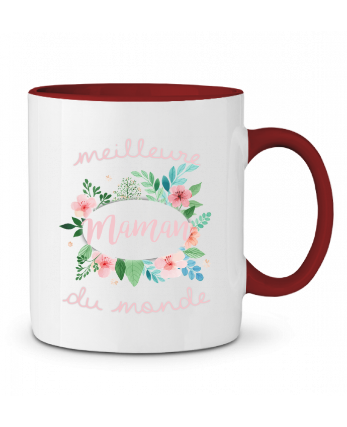 Mug en Céramique Bicolore Meilleure maman du monde FRENCHUP-MAYO