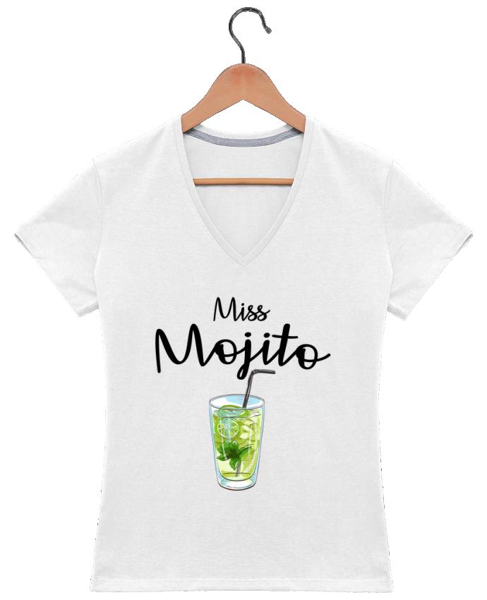 T-shirt Col V Femme 180 gr Miss Mojito par FRENCHUP-MAYO