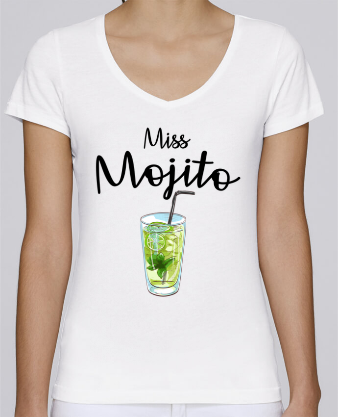 T-shirt Femme Col V Stella Chooses Miss Mojito par FRENCHUP-MAYO