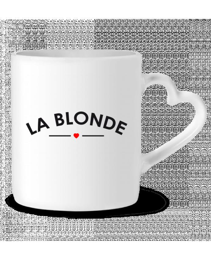 Mug Coeur La Blonde par FRENCHUP-MAYO