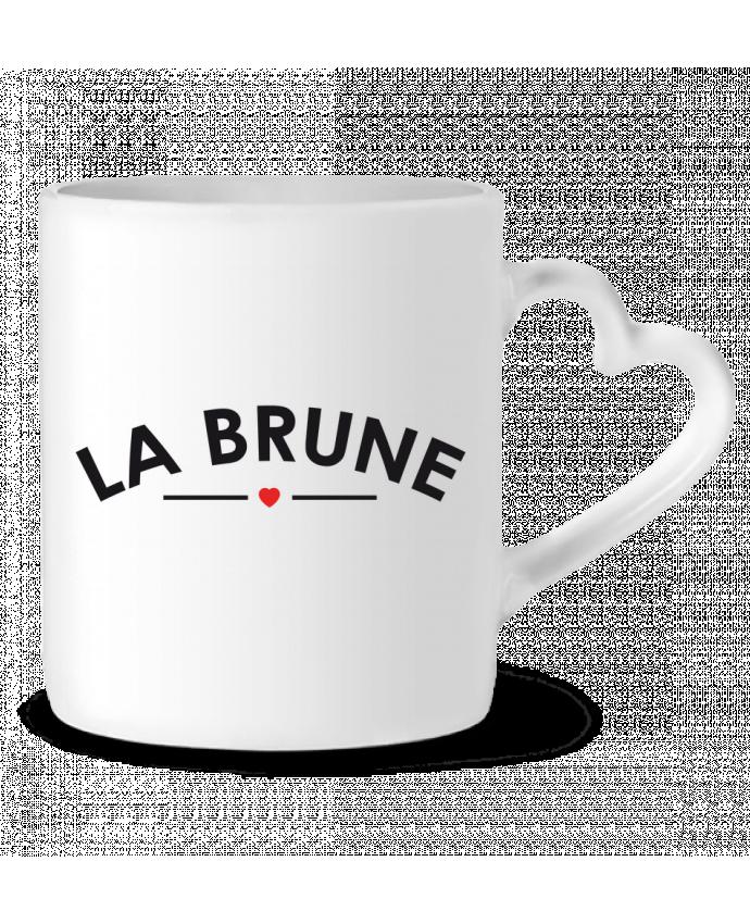 Mug Coeur La Brune par FRENCHUP-MAYO