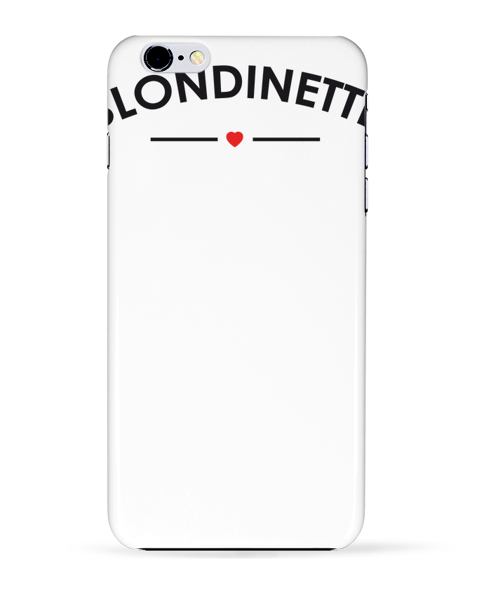 Coque 3D Iphone 6+ Blondinette de FRENCHUP-MAYO