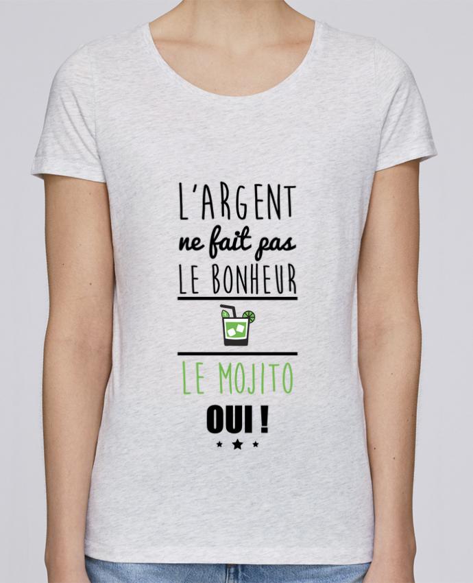 T-shirt Femme Stella Loves L'argent ne fait pas le bonheur le mojito oui ! par Benichan