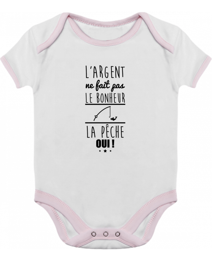 Body Bébé Contrasté L'argent ne fait pas le bonheur la pêche oui ! par Benichan