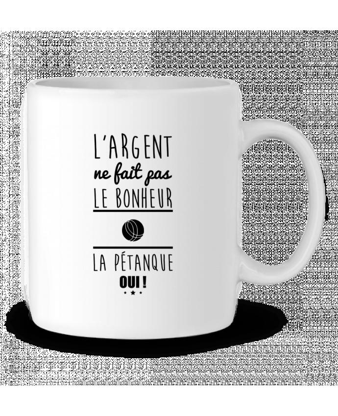 Mug en Céramique L'argent ne fait pas le bonheur la pétanque oui ! par Benichan