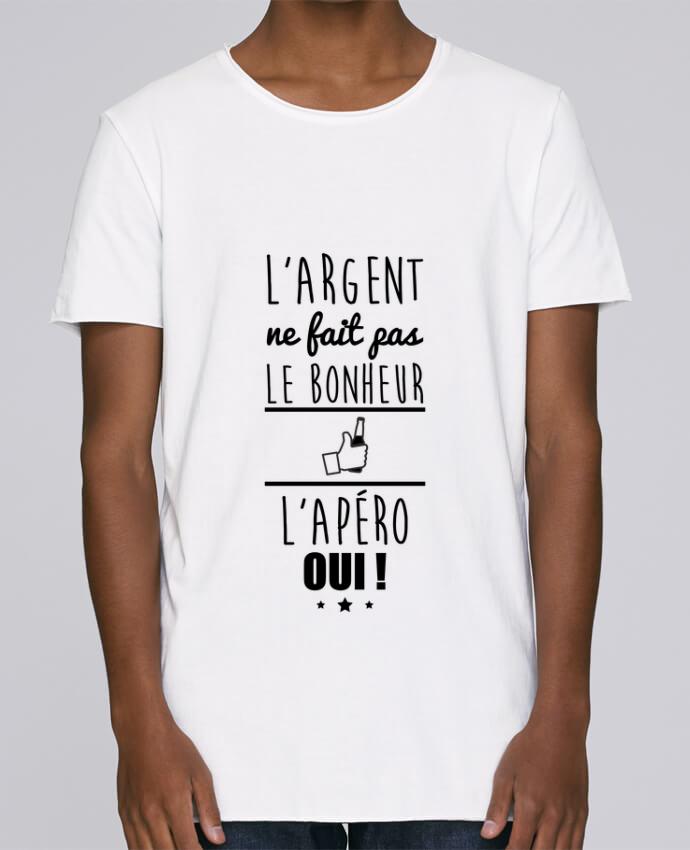 T-shirt Homme Oversized Stanley Skates L'argent ne fait pas le bonheur l'apéro oui ! par Benichan