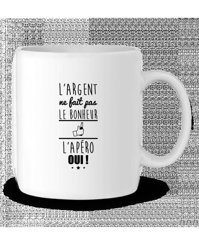 Mug en Céramique L'argent ne fait pas le bonheur l'apéro oui ! par Benichan