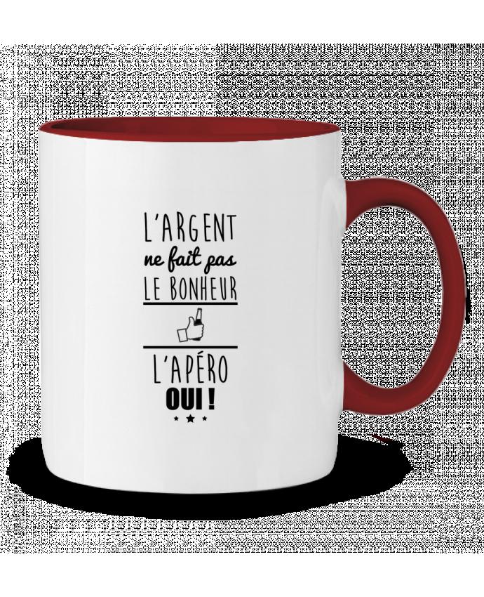 Mug en Céramique Bicolore L'argent ne fait pas le bonheur l'apéro oui ! Benichan
