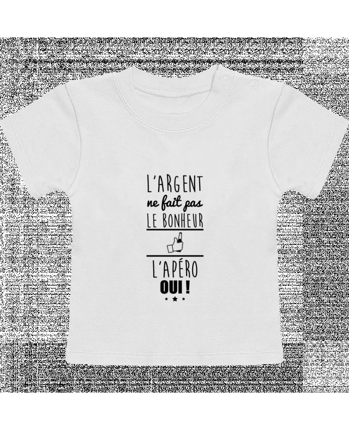 T-Shirt Bébé Manches Courtes L'argent ne fait pas le bonheur l'apéro oui ! manches courtes du designer Benichan