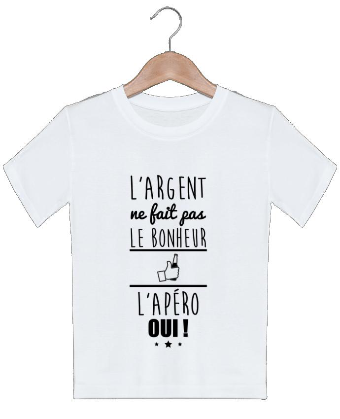T-shirt garçon motif L'argent ne fait pas le bonheur l'apéro oui ! Benichan