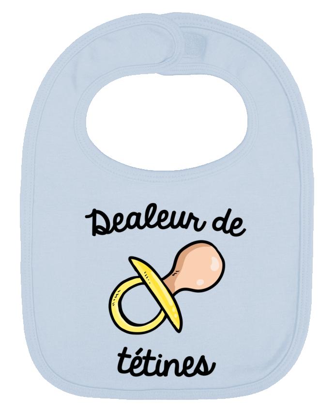 Bavoir Uni et Contrasté Dealeur de tétines par FRENCHUP-MAYO