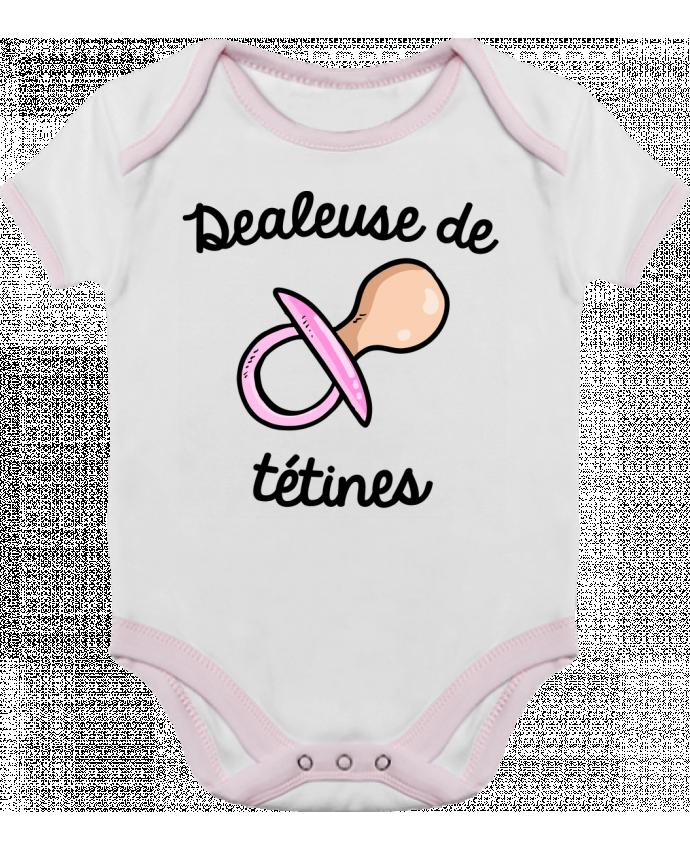 Body Bébé Contrasté Dealeuse de tétines par FRENCHUP-MAYO