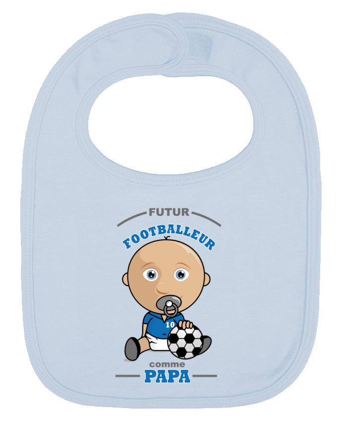 Bavoir Uni et Contrasté Futur Footballeur comme papa par GraphiCK-Kids