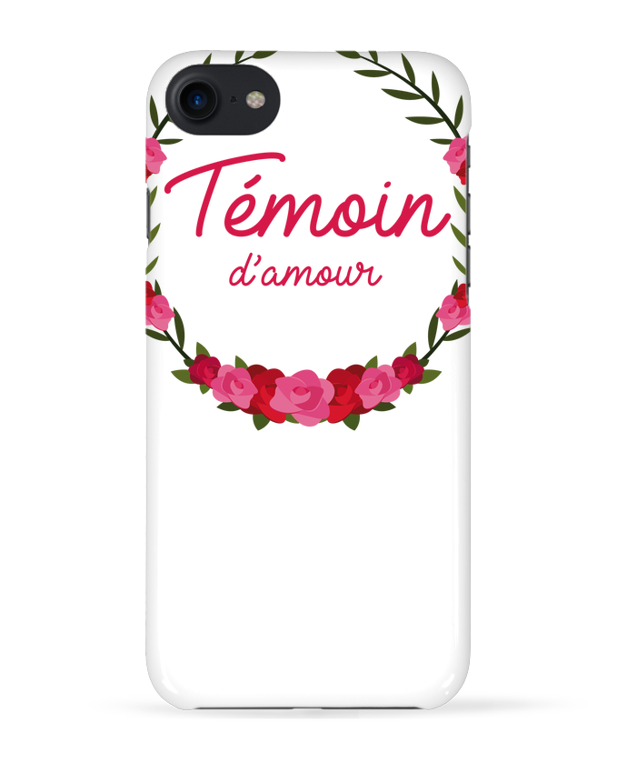 Coque 3D Iphone 7 Témoin d'amour de FRENCHUP-MAYO