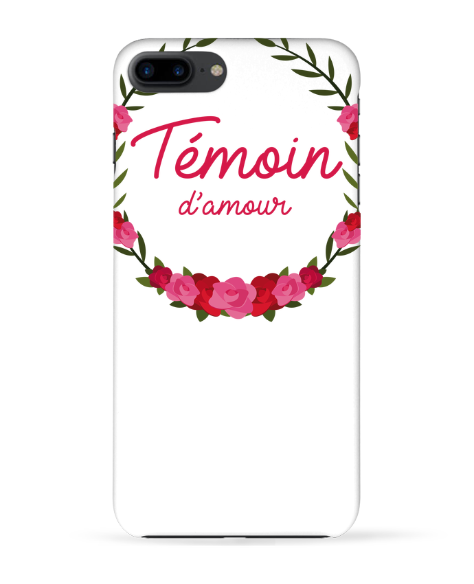 Coque 3D Iphone 7+ Témoin d'amour par FRENCHUP-MAYO