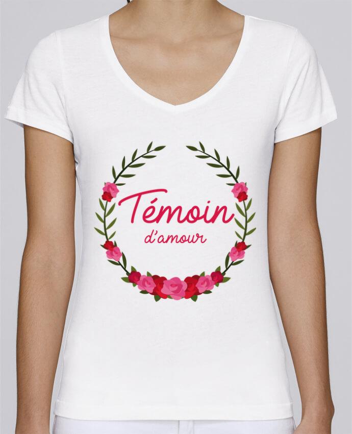 T-shirt Femme Col V Stella Chooses Témoin d'amour par FRENCHUP-MAYO