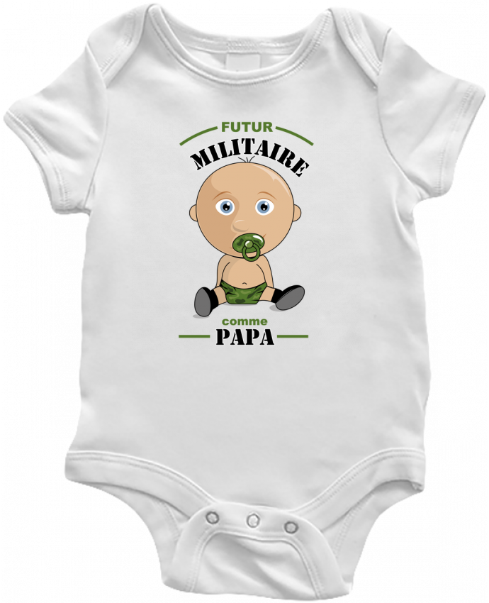 Body Bébé Futur militaire comme papa par GraphiCK-Kids