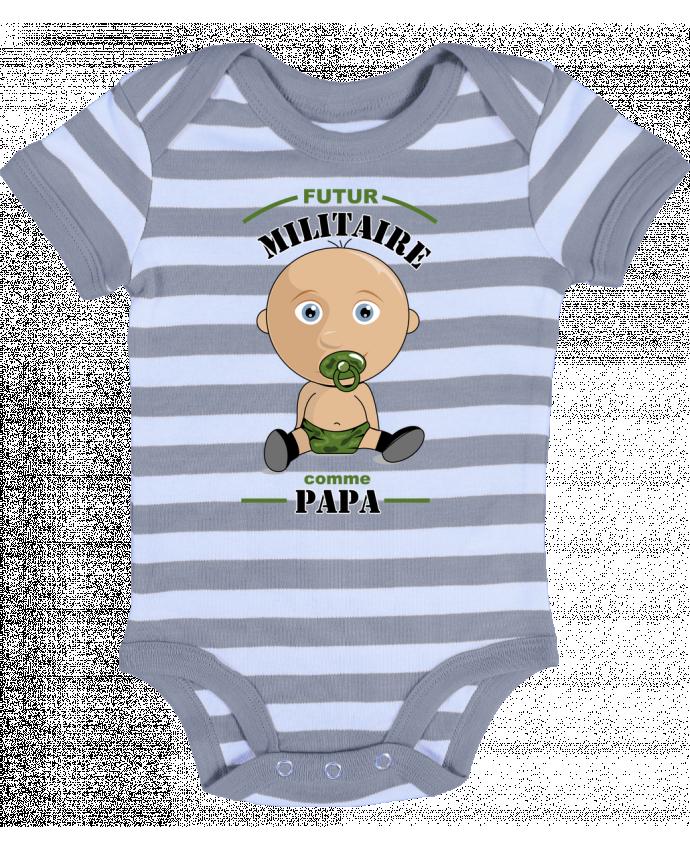 Body Bébé à Rayures Futur militaire comme papa - GraphiCK-Kids