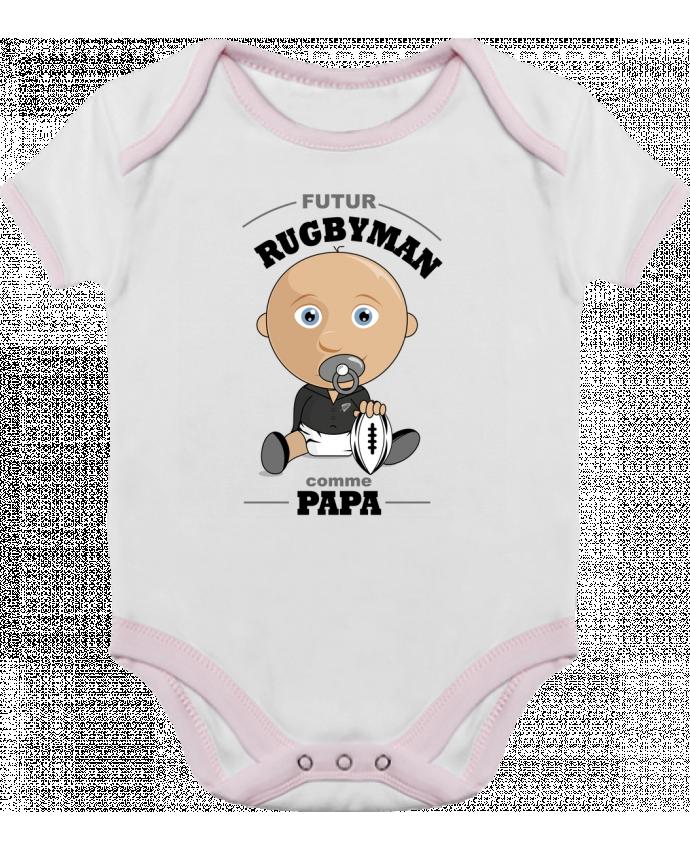 Body Bébé Contrasté Futur rugbyman comme papa par GraphiCK-Kids