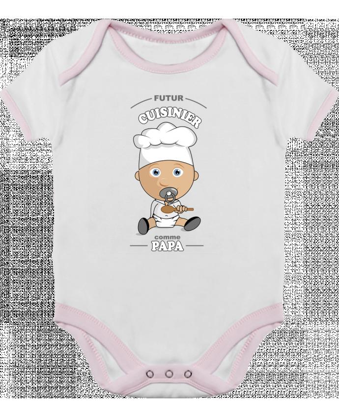 Body Bébé Contrasté Futur cuisinier comme papa par GraphiCK-Kids