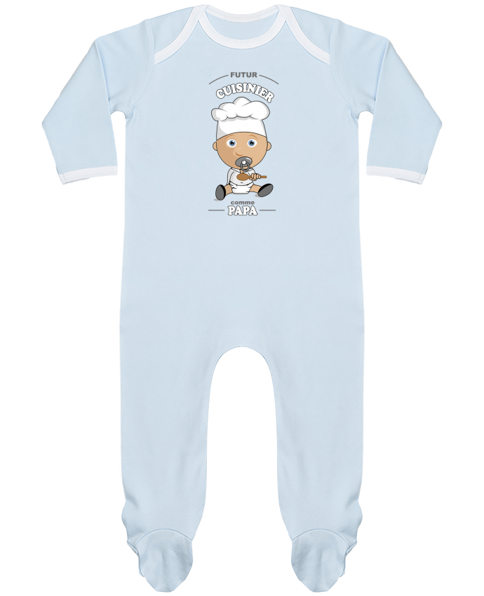 Pyjama Bébé Manches Longues Contrasté Futur cuisinier comme papa par GraphiCK-Kids