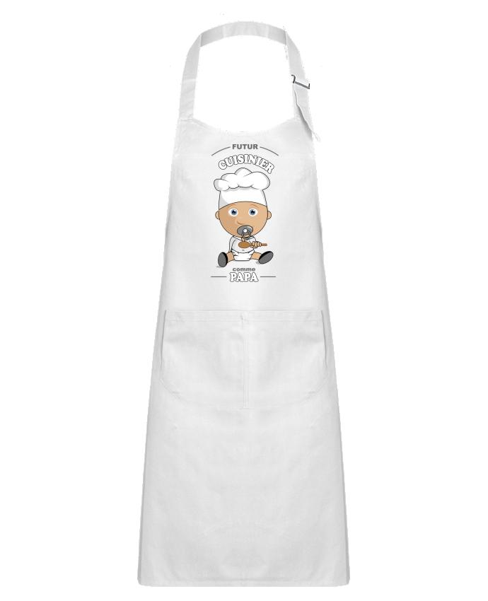 Tablier Enfant avec Poche Futur cuisinier comme papa par GraphiCK-Kids
