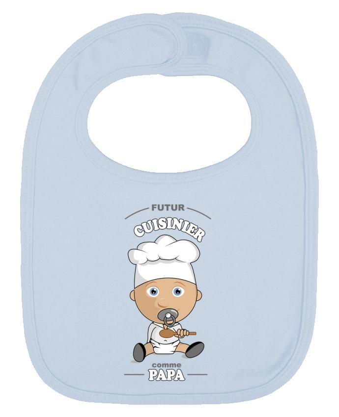 Bavoir Uni et Contrasté Futur cuisinier comme papa par GraphiCK-Kids