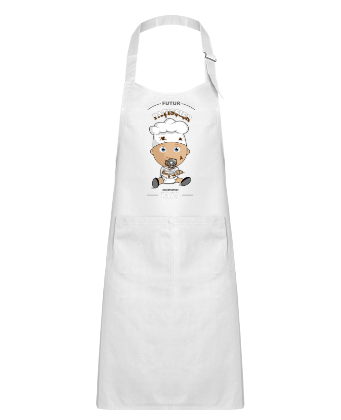 Tablier Enfant avec Poche Futur pâtissier comme papa par GraphiCK-Kids