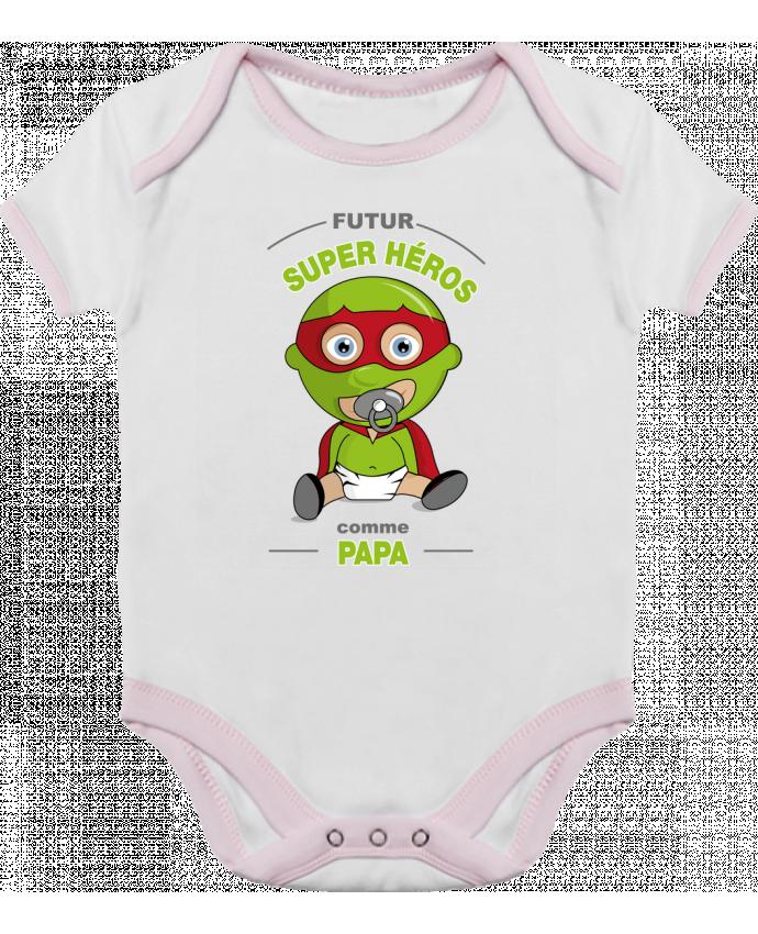 Body Bébé Contrasté Futur Super Héros comme papa par GraphiCK-Kids