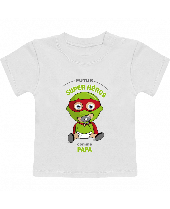 T-Shirt Bébé Manches Courtes Futur Super Héros comme papa manches courtes du designer GraphiCK-Kids