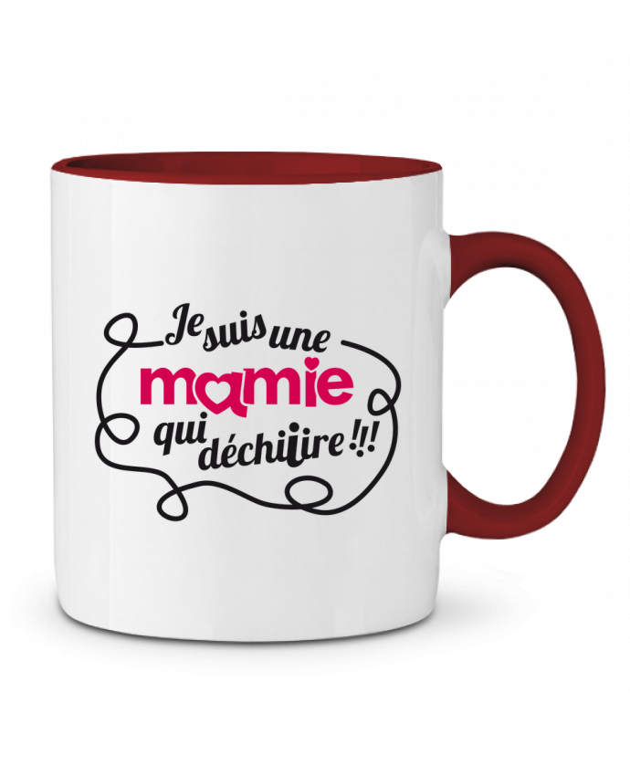 Mug en Céramique Bicolore Je suis une mamie qui déchire GraphiCK-Kids