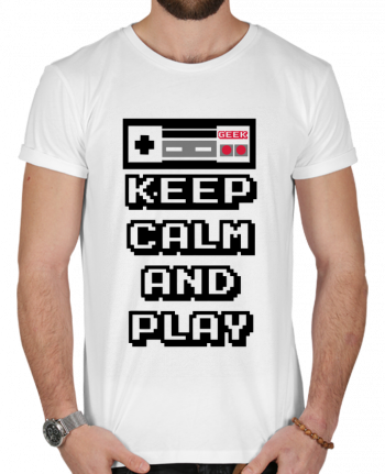 T-shirt  Homme 180g KEEP CALM AND PLAY par SG LXXXIII
